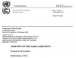 accord de paris 2015